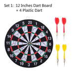 12'' 15'' 17'' Inches Professional Darts Boards Set Double-Side Dartboard 6 Pieces Darts For Free