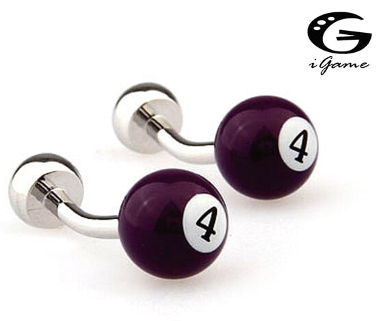 iGame American Billiards Cuff Links Sports Snooker 4 Free shipping
