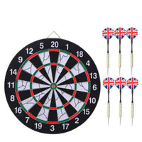 12 Inch Darts Boards High-grade Double-sided Flocking Dartboard For Dart Game 6 Darts For Free