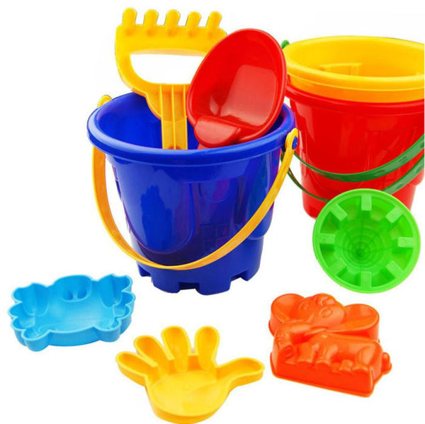 7Pcs Sand Sandbeach Kids Beach Toys Castle Bucket Spade Shovel Rake Water Tools High-grade beach barrels Beach toys for children