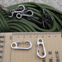 New Spring Buckle Snap Alloy Nickel-free Plating Mini Key Ring Carabiner Bottle Hook Paracord Outdoor Camp Climbing Accessories