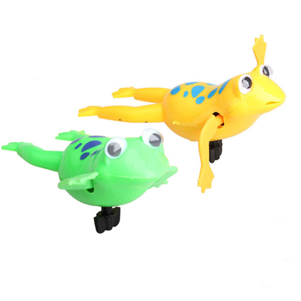 Swimming Frog Battery Operated Pool Cute Bath Toys Wind-Up Swim Frogs Kids Toys For Children