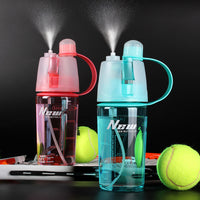 Sports Spray Water Bottle Dual-use Fashion Bottle Cycling outdoor Moisturizing shaker Travel Plastic Camping 0.6L/0.4L Drinkware