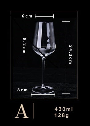 2in1  Large Crystal Glass Wine Goblet pb-free Classic Wine Glasses Cups Shot Wedding Birthday Housewarming Gift Set