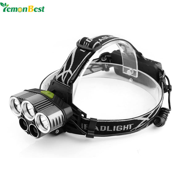 LED Headlight Torch Flashlight Rechargeable 6 Light Modes for Outdoor Sports Bike Bycicle Camping Biking Hunting Fishing
