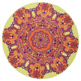 Round Beach Towel Yoga Blanket Shawl Bedspread Rug Beach Towel