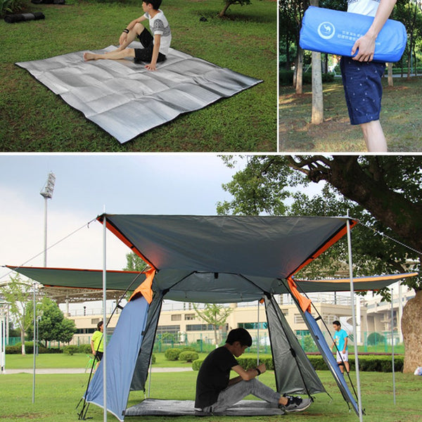 Double-Sided Aluminum Foil Outdoor Camping Mat EVA Foam Waterproof Moisture Proof Picnic Pad For Tent