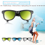 Fashionable Foldable Polarized UV400 Sunglasses Full Frame Day Vision for Outdoor Sport Cycling Traveling Fishing Hiking Camping