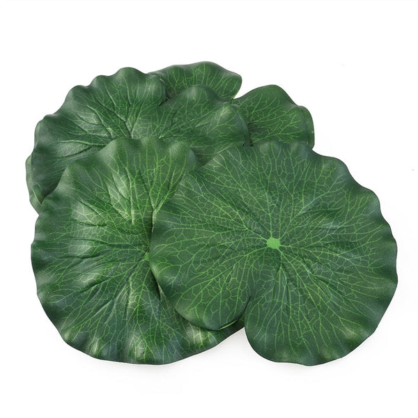 10pcs 18CM Floating Pool Decoration Water Decorative Aquarium Fish Pond Scenery Lotus Leaf