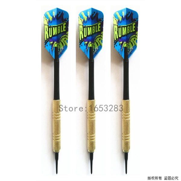 3 pieces Dart Set Of Soft Tip Black Shaft Darts for Electronic Dartboard Professional 15g  41mm Shaft