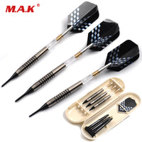3pcs 21g Safe Tungsten Steel Tip and Rotatable Transparent Shaft Darts with Laser Dart Flight for Electronic Dart Target