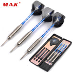 3pcs Darts 28g Stainless Stell Tip and Marked Aluminum Shaft Darts with Black Skeleton Skull Dart Flight