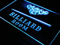 s082 Billiard Pool Room Bar Beer LED Neon Light Sign On/Off Switch 20+ Colors 5 Sizes