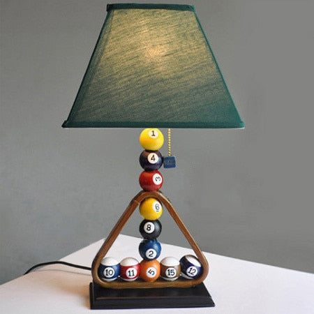 Modern creative billiards table lamps bedroom bedside lamp personality industrial style study bar clothing desk lights ZA FG470