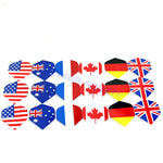 6Pcs Dart Flights Nice National Flag Flights Darts Flight Throwing Toy