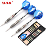 24g 3pcs Darts with Stainless Iron Tips Carved Aluminum Shaft and Nickel Plated Tube Dart with Blue Stars Dart Flight