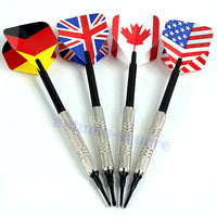 4Pcs Dart Brass Soft Tip Bar Darts With Nice National Flags Throwing Flights Toy