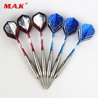 High Quality 6pcs Straight Darts 23g Professional White Steel Tip Darts with Copper Barrel for Indoor Game Sports