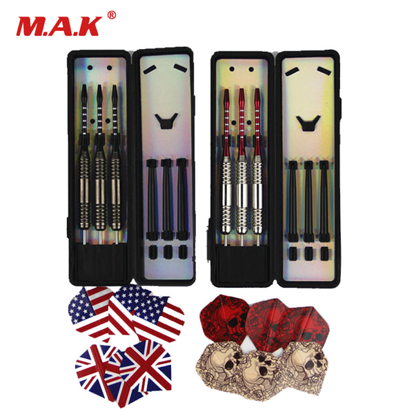 6pcs/2set Professional White/Bronze Darts About 25g Steel Tip Darts with Iron Copper Barrel for Indoor Game Sports