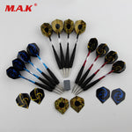 High Quality 12pcs Straight Dart Needle Dart with Aluminum Black Pole Millstone in Suit for Indoor Outdoor Game Sports