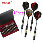 High Quality 12pcs Professional Straight Dart Copper Dart with Aluminum Pole for Indoor Outdoor Game Sports