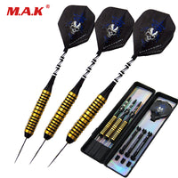 New 3pcs Steel Tip and Silver Marked/Black Shaft Cooper Handle Darts with Black Skull Dart Flight