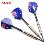 21.6g 3pcs Steel Hard Darts with Hard Tip and Fun Flag Flights Indoor Sport Darts for Adult Sport Play Throwing Toys