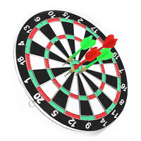 NEW indoor 11.5 inch sport double target dart magnetic flocking dartboard board double thickening for wholesale and freeshipping