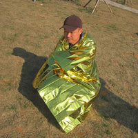 210*130CM Outdoor Camping Travel  Waterproof  Military Emergency Blanket Survival Rescue Insulation Curtain Blanket Silver
