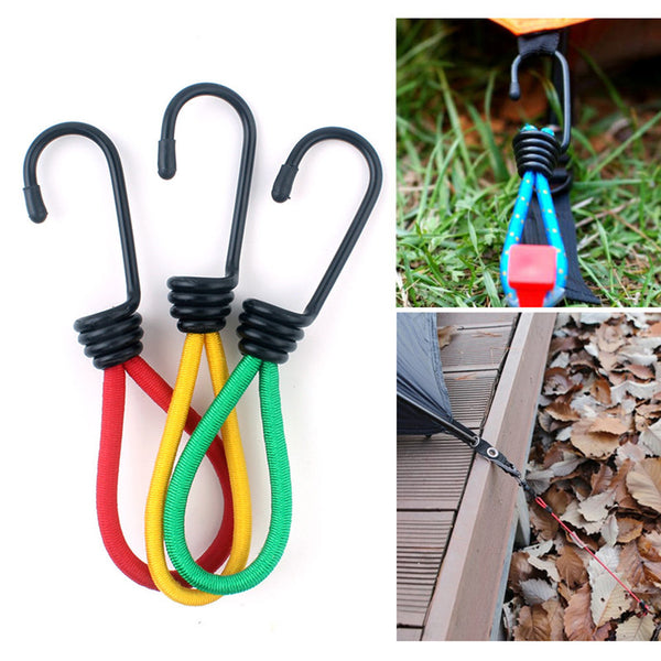 Outdoor Camp Fixed Binding Elastic Rope Hook Tent Holder Tihgt Buckle Accessory