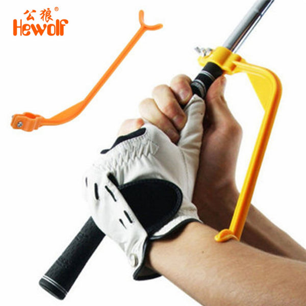 Hewolf Golf Swing Trainer Educational Practice Guide Beginner Gesture Alignment Golf Club Correct Wrist Training Aid Tools