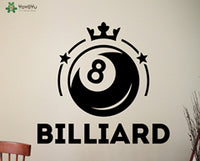 Game Wall Decal Billiard Vinyl Wall Stickers Playroom Art Mural Design Waterproof DIY Cool Home Decoration Accessories SignSY457