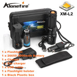 ALONEFIRE X800 Zoom Cree XM-L2 T6 led Zaklamp torch lantern Defensive Tactical flashlight night light 26650 Rechargeable battery