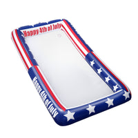 TINKSKY Patriotic Inflatable Serving Bar US Flag Buffet Cooler for 4th of July BBQ Picnic Pool Party