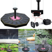 200L/H Floating Solar Power Fountain Panel Kit Garden Water Pump for Birdbath Pool Watering Wide Irrigation Pumps 8V 1.0W