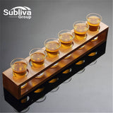 6 Hole Cup Holder Cup Set Cocktail Shaker Lead-free Liquor Shot Glasses Wine With A Suit Cup Glass Small Glasses Wine Cup
