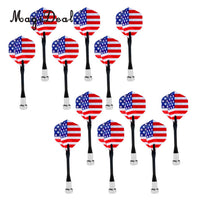 MagiDeal 12 Pieces/Pack USA National Flag Safety Replacement Magnetic Darts for Magnet Dartboard