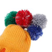 3pcs/set Golf Club Smiling Face Knit Head Covers Headcovers Vintange Pom Pom Sock Covers for Driver & Fairway Woods