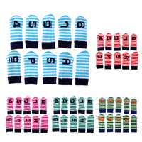 Set of 10 Knit Golf Club Head Cover Set Wedge Iron Protective Headcovers (4-9PAS) with Number Tags Golf Accessories