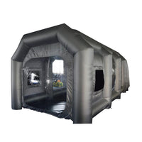 Movable inflatable paint booth, movable spray tent
