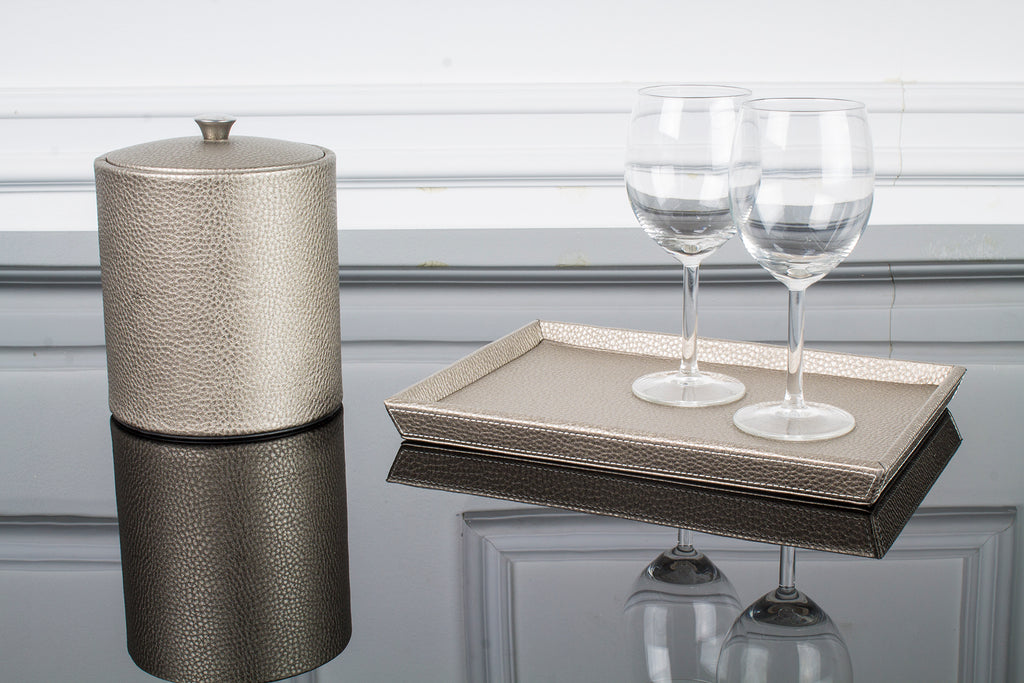 Ice Bucket and Glass Holder Set