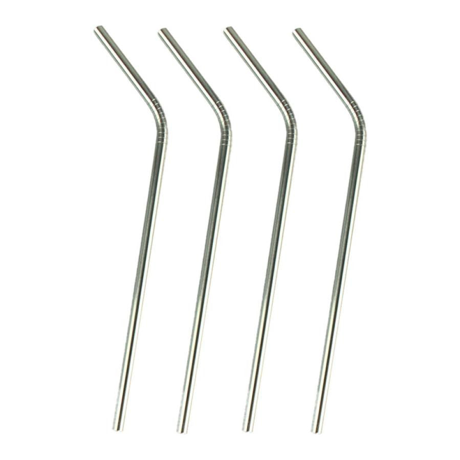 Super Deal 4 Pcs Eco Friendly Stainless Steel Drinking Straws Extra Large for Shakes  XT