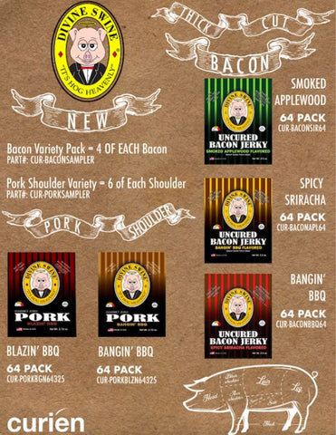 Divine Swine Bacon Jerky Variety Pack