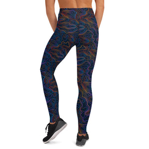 Colorful Black Topo leggings