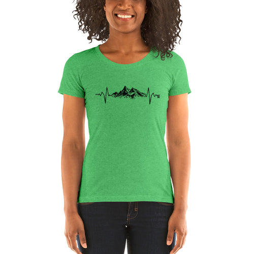 Mountain heartbeat- women's cut tee