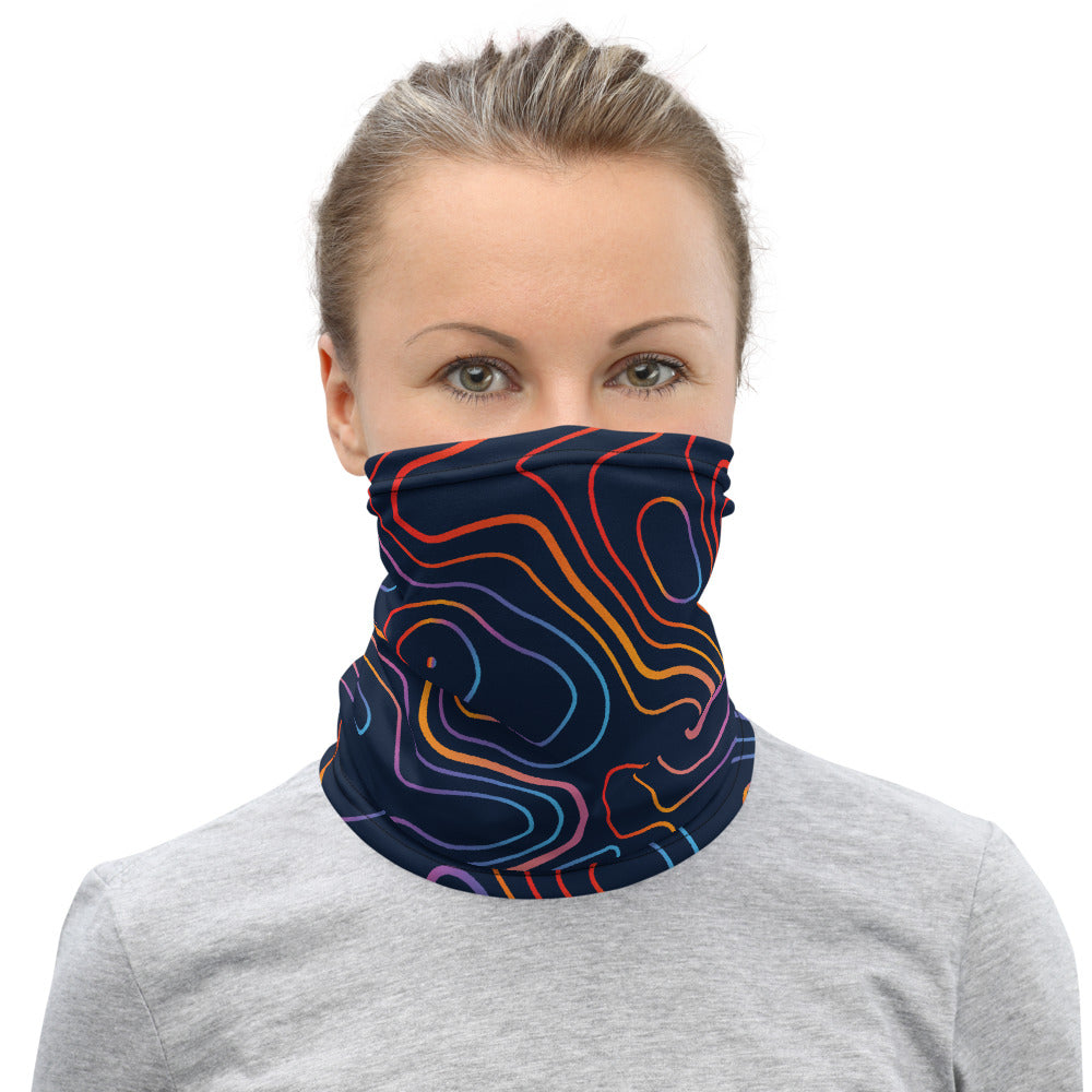 Colorful Topo Face Covering