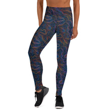 Load image into Gallery viewer, Colorful Black Topo leggings