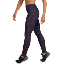 Load image into Gallery viewer, Black/pink Topo leggings
