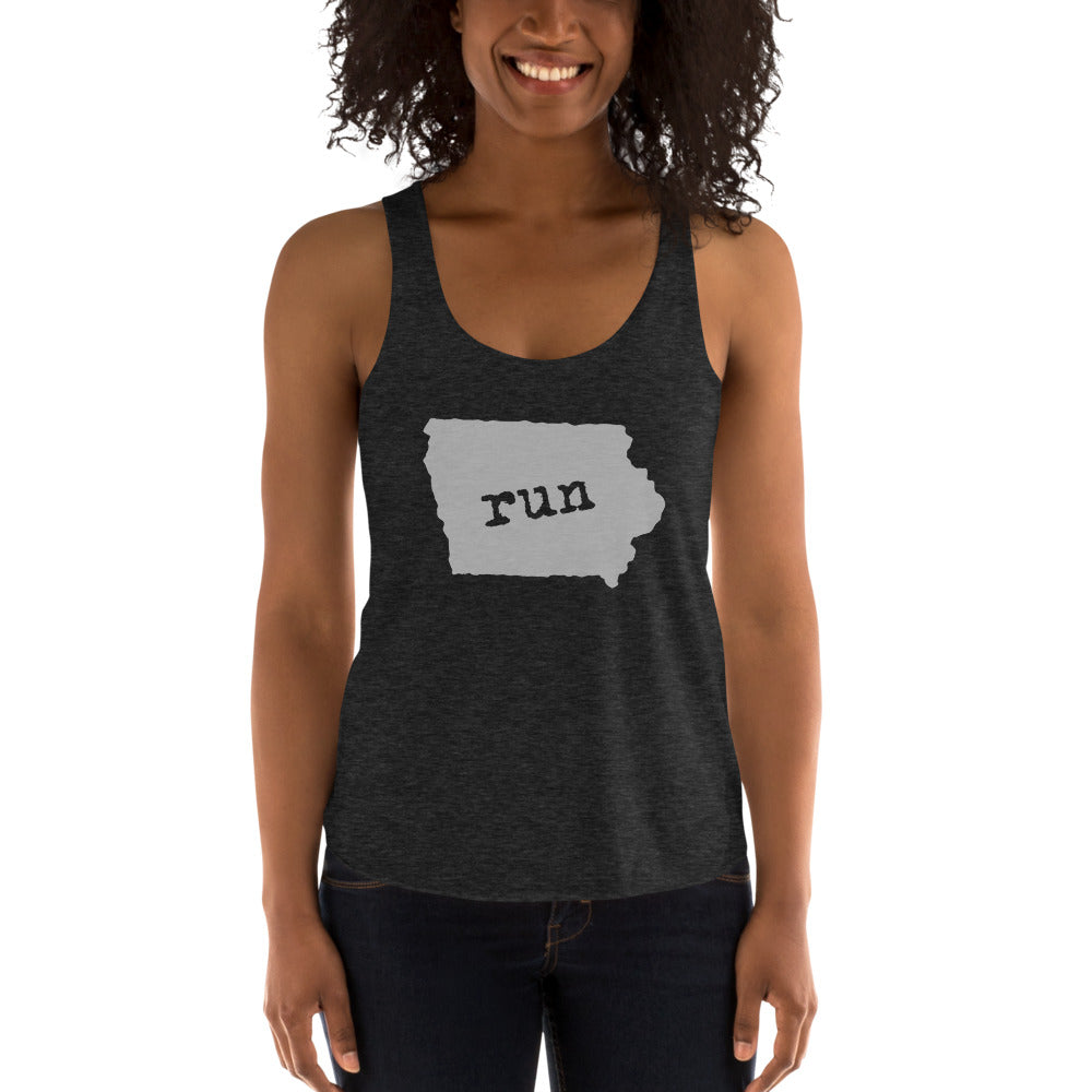 Women's Run Iowa Tank