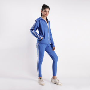 Royal Blue Double Stripe Tracksuit